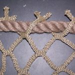 Mesh netting used in a diamond pattern