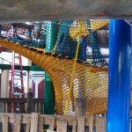 A spiral climbing net