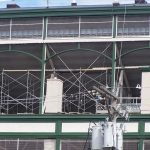 Bleacher debris netting at Wrigley Field.