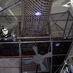 Climbing net play areas for museums.