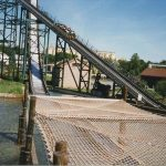 Roller coaster safety netting.