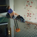 Ride safety netting in a children's museum.