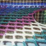 shrinking net colors woven together., ends at a mouse hole