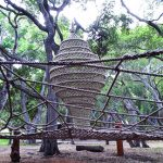 Tree house netting.