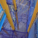 a netting climbing ramp