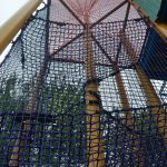 A climbing structure made with netting at Sesame Place