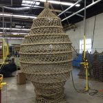 Manufacturing a climbing net cocoon.