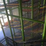 A multi level climbing net.