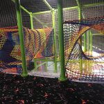 Colorful shrinking net tunnels