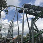 Debris safety netting on The Hulk roller coaster.