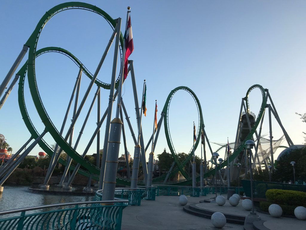 The Hulk roller coaster at Universal Orlando, has been fitted with a public protection net system, designed and installed by Pucuda-Leading Edge