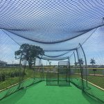 Batting cage safety netting.