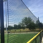 Sports barrier netting.