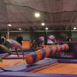 Barrier netting for a trampoline park