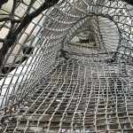 Net tunnels for a climbing structures.
