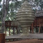 A cocoon net for a tree house.