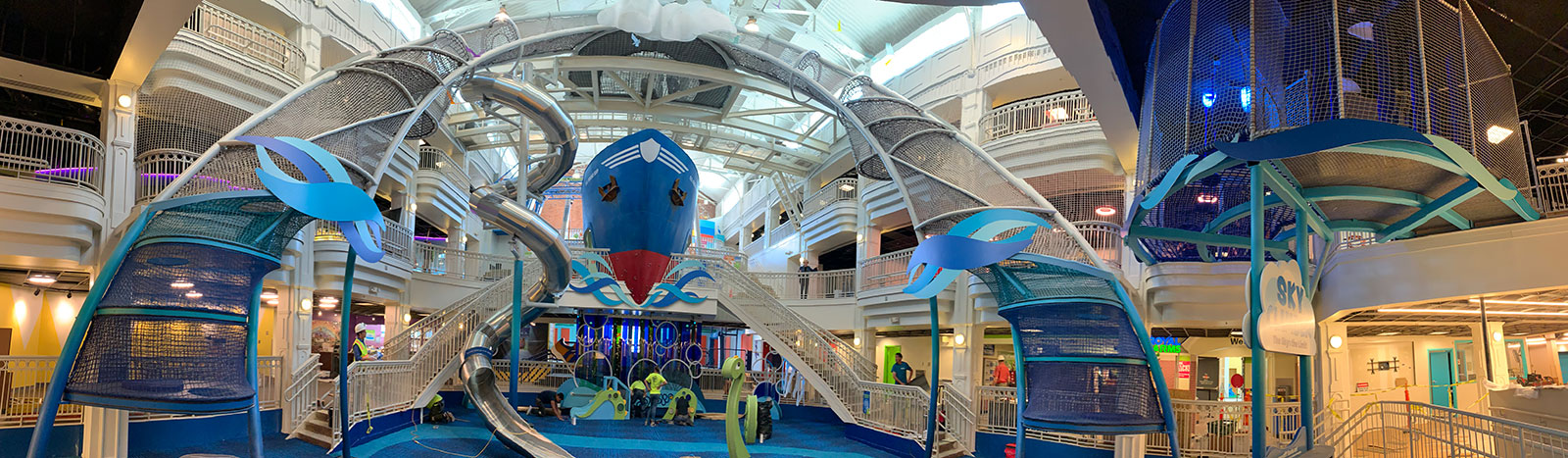 A panoramic scene of Port Discovery Children's Museum.