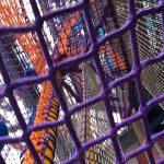 Climbing net treehouses.