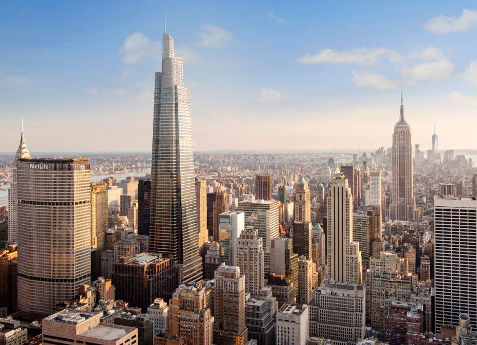 Conceptual rendering of One Vanderbilt Ave, in New York City.
