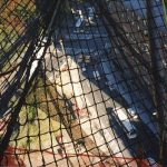 Safety netting provides protection to the street below.