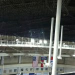 permanent net platforms for convention and sports arenas