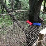 Tree house netting.