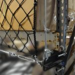 Attachment hardware for storage rack netting systems.