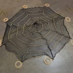 Spider web netting made to order.