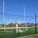 Safety netting at a sports field.