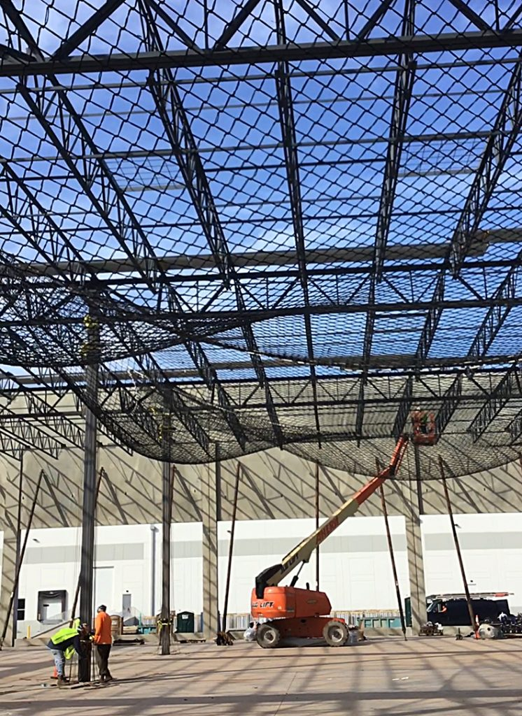 A Safety netting system for steel frame structures