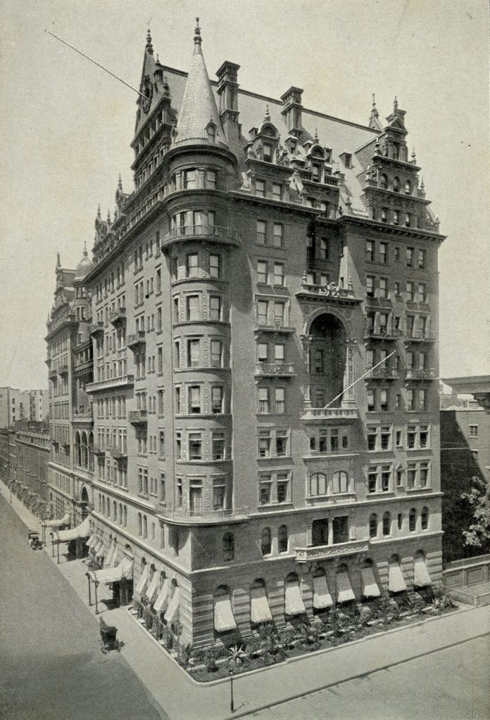 The Waldorf Astoria Hotel at 5th Avenue and 33rd Street.