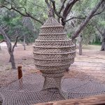Cocoon netting for a treehouse.