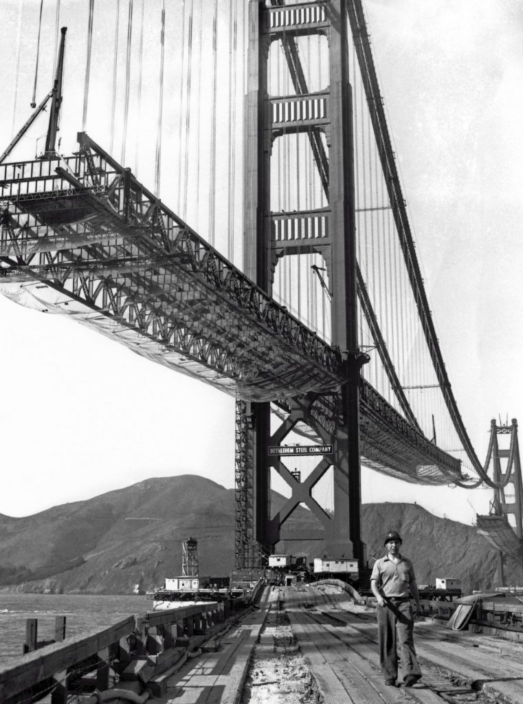 Safety netting was used during the construction of The Golden Gate Bridge.