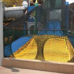 Mouse holes offer an opening to a net maze that can passively control crowd size and access