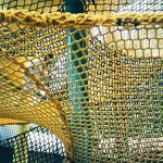 climb netting mesh panels secured to cables