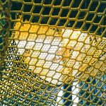 Yellow climb netting
