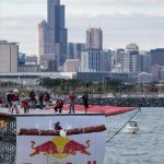 Safety netting at the Red Bull Flugtag events.
